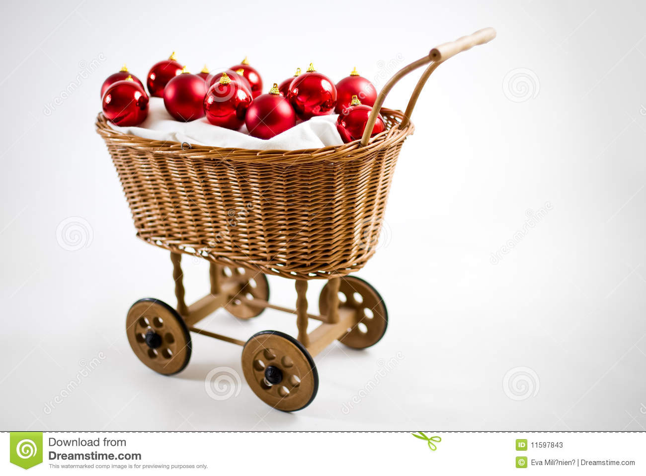 4163675cb9 Christmas Cart With Baubles Stock Image - Image of holiday