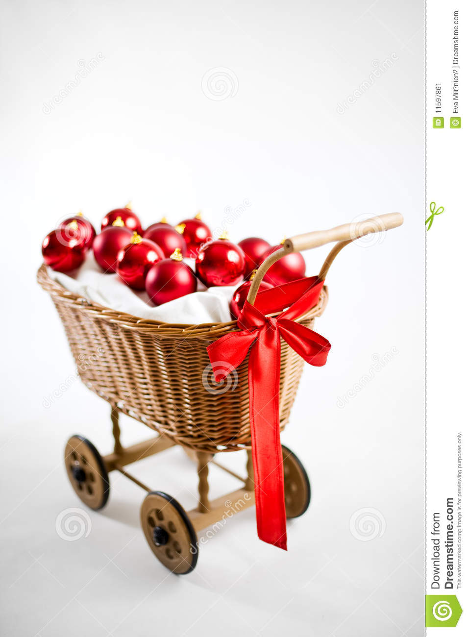 19ccf88187 Christmas Cart With Baubles Stock Image - Image of winter