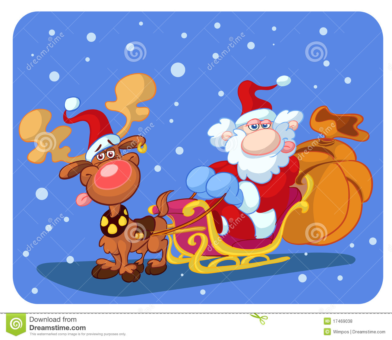 Christmas Cartoon Royalty Free Stock Photos - Image: 17469038