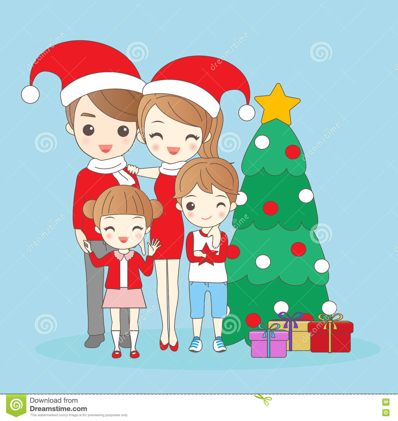 Christmas Cartoon Family Stock Illustrations 16 498 Christmas Cartoon Family Stock Illustrations Vectors Clipart Dreamstime