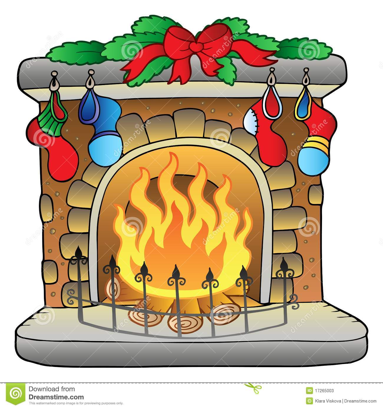 More similar stock images of ` Christmas cartoon fireplace `