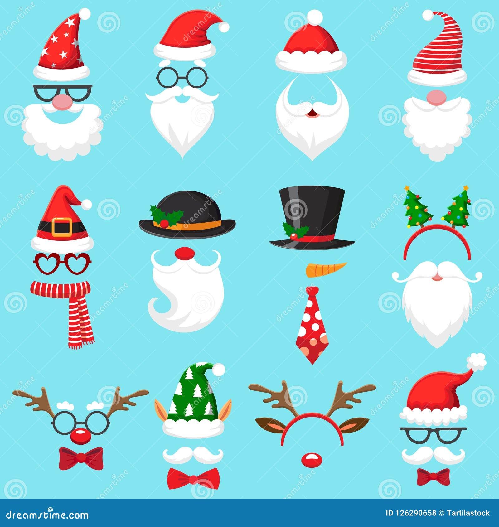 07ff502e2a255 Christmas Cartoon Hats. Xmas Santa Hat