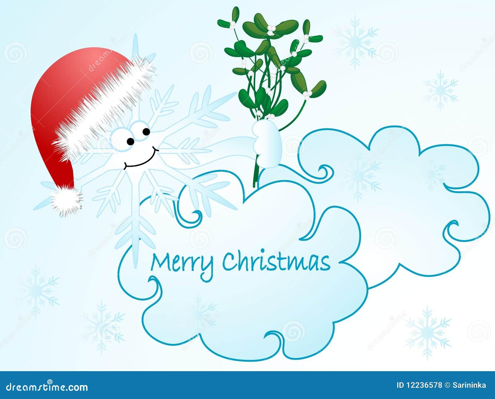 Christmas cartoon snowflake stock vector image