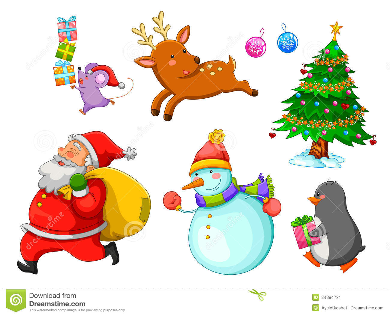 Christmas Cartoons Stock Image Image 34384721
