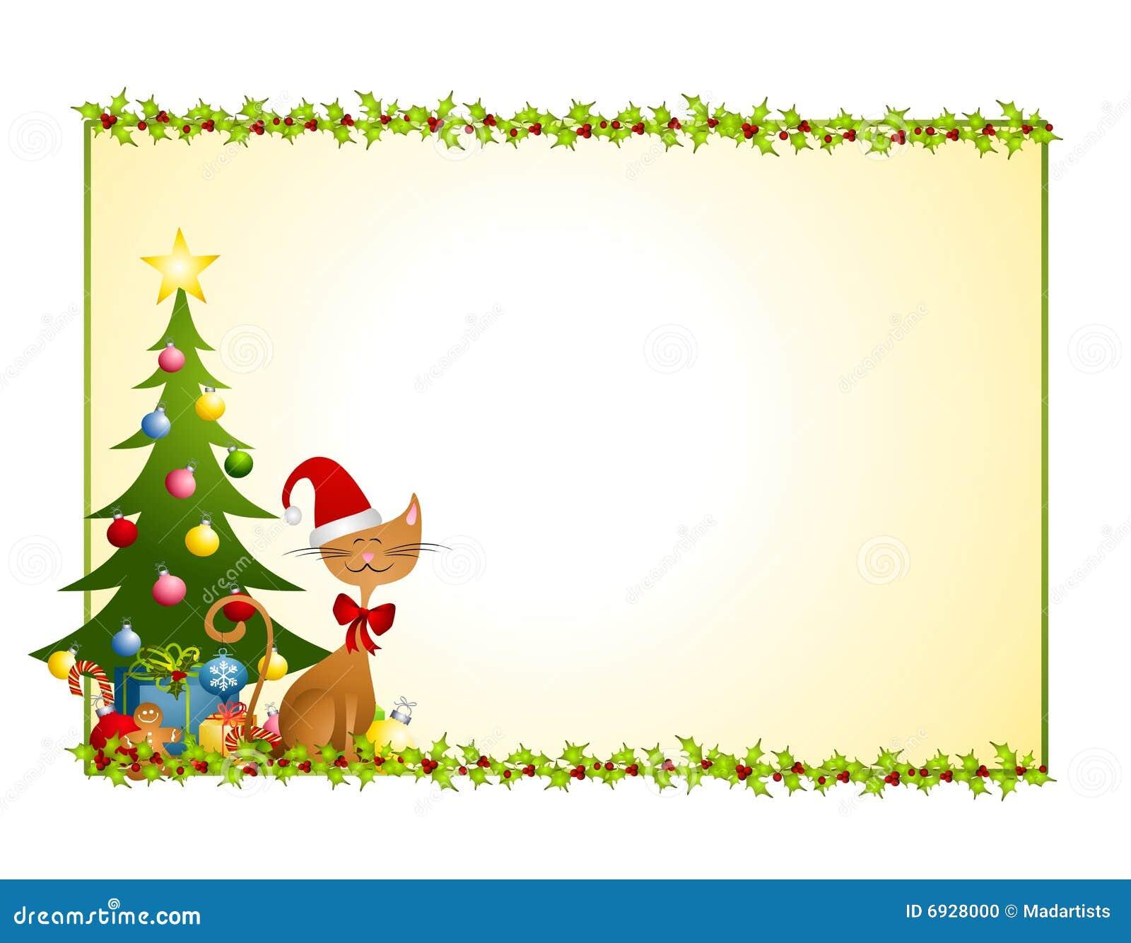 Christmas Cat Background Stock Photo - Image: 6928000