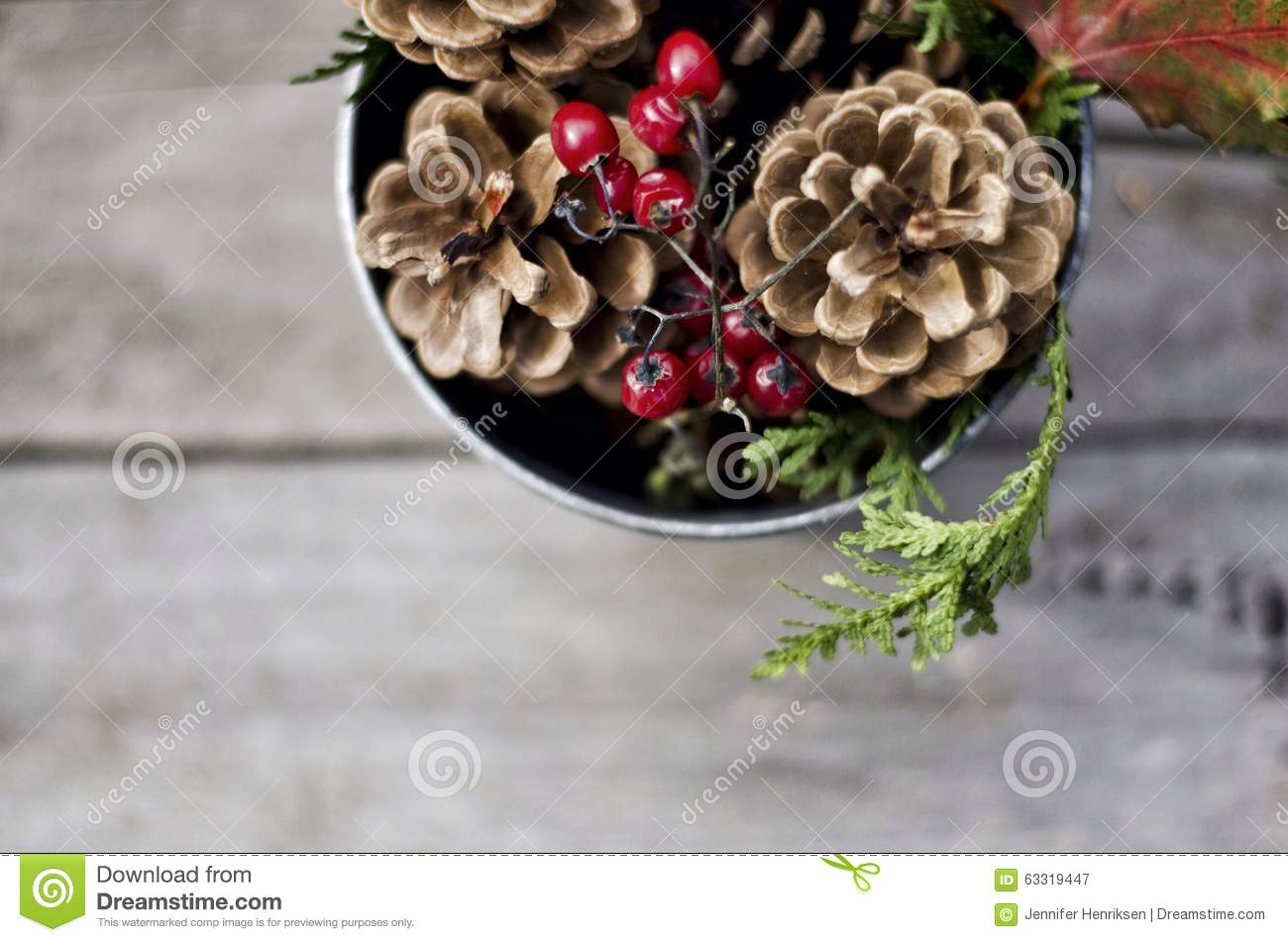 Christmas Centerpiece Stock Image Image Of Table Home