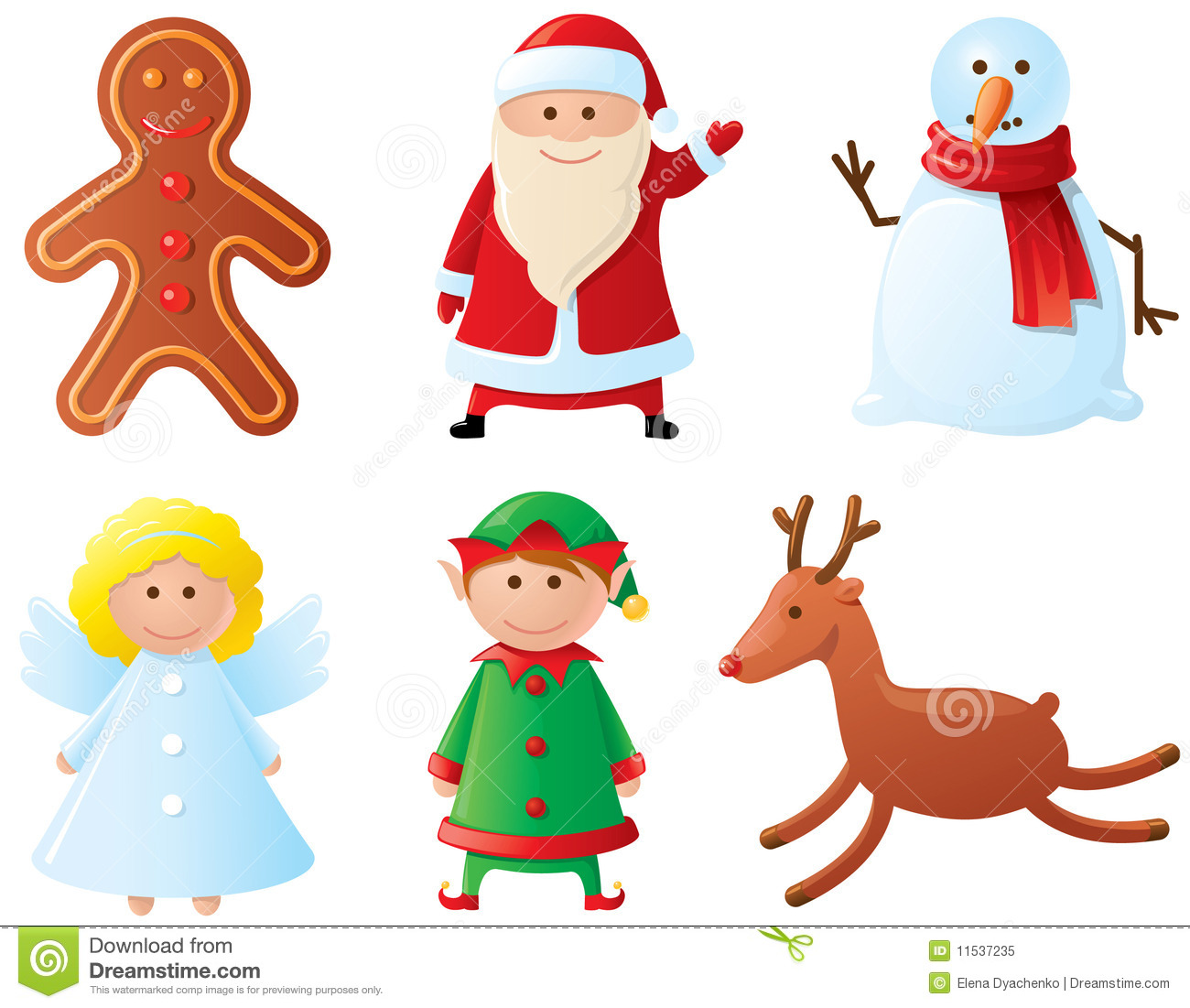 Christmas characters stock vector. Illustration of