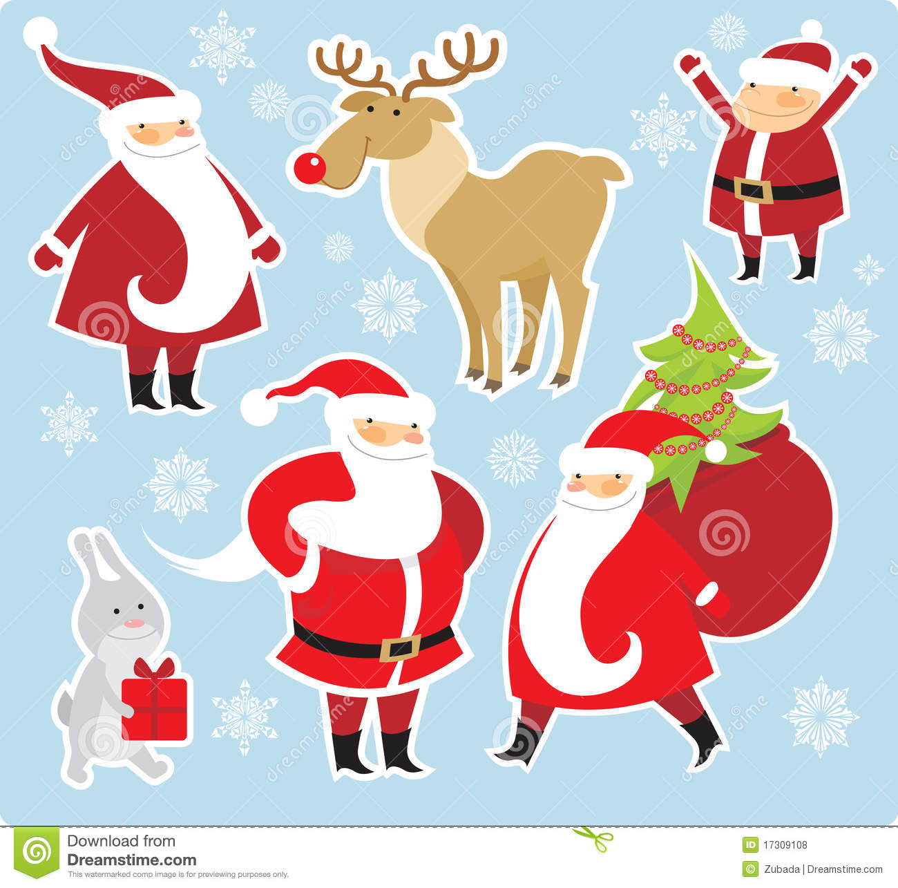 christmas characters royalty free stock photos