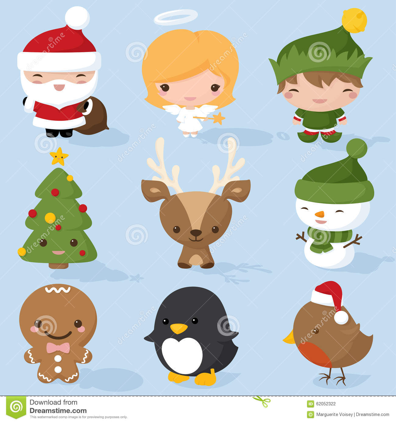 Christmas Characters Stock Vector - Image: 62052322