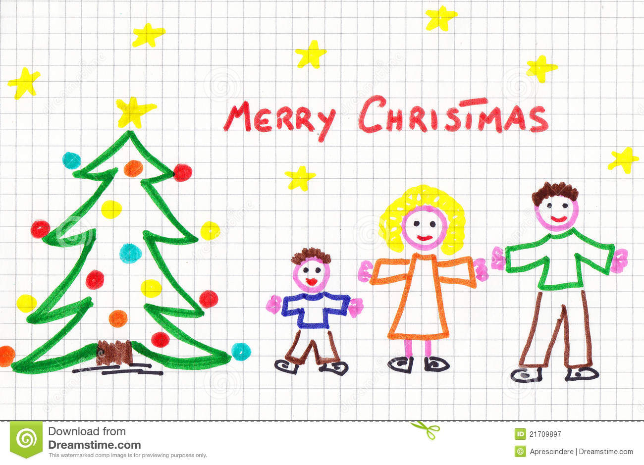 christmas child draw royalty free stock photography image 21709897