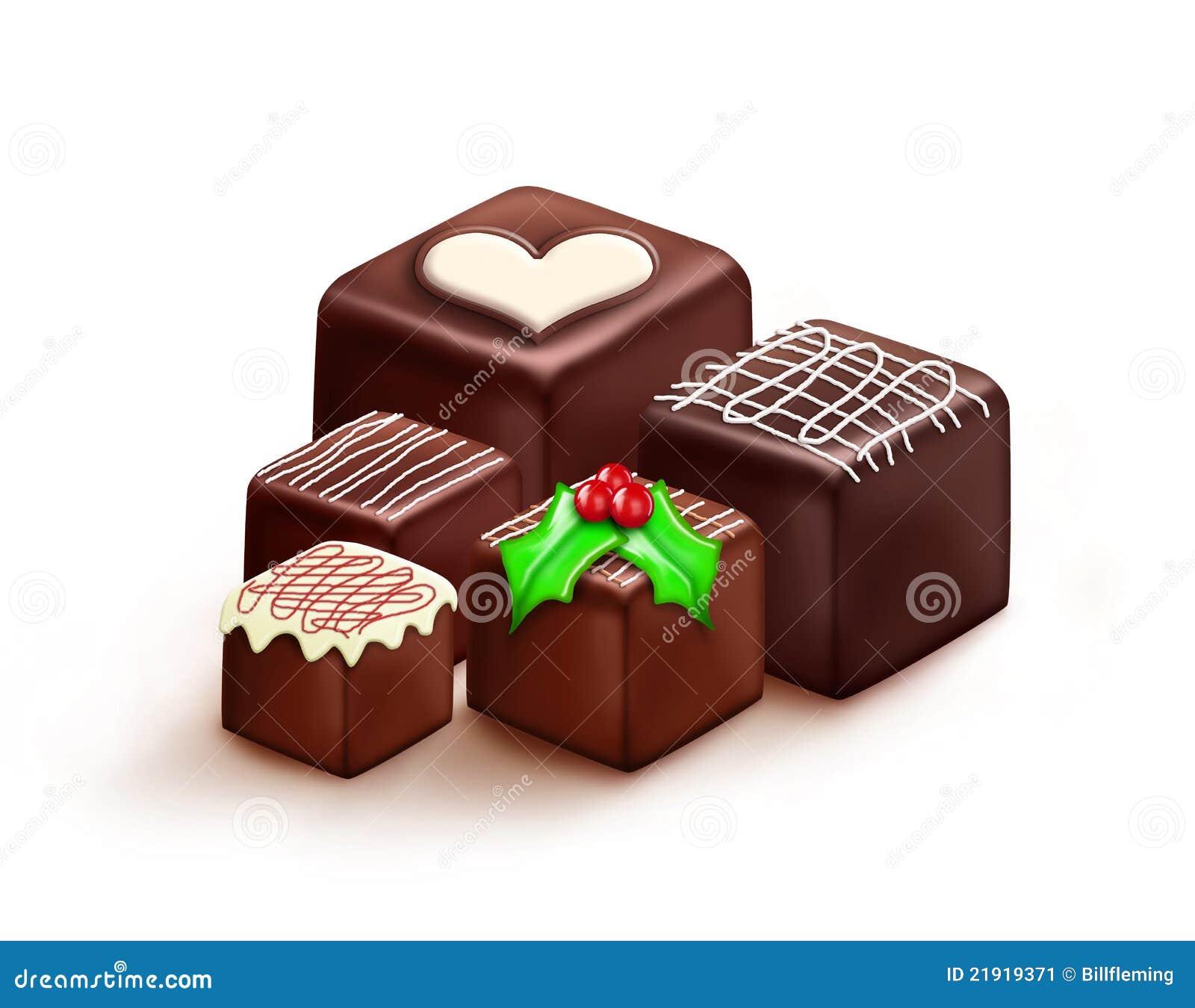 Cute Christmas Chocolates Royalty Free Stock Photography - Image ...