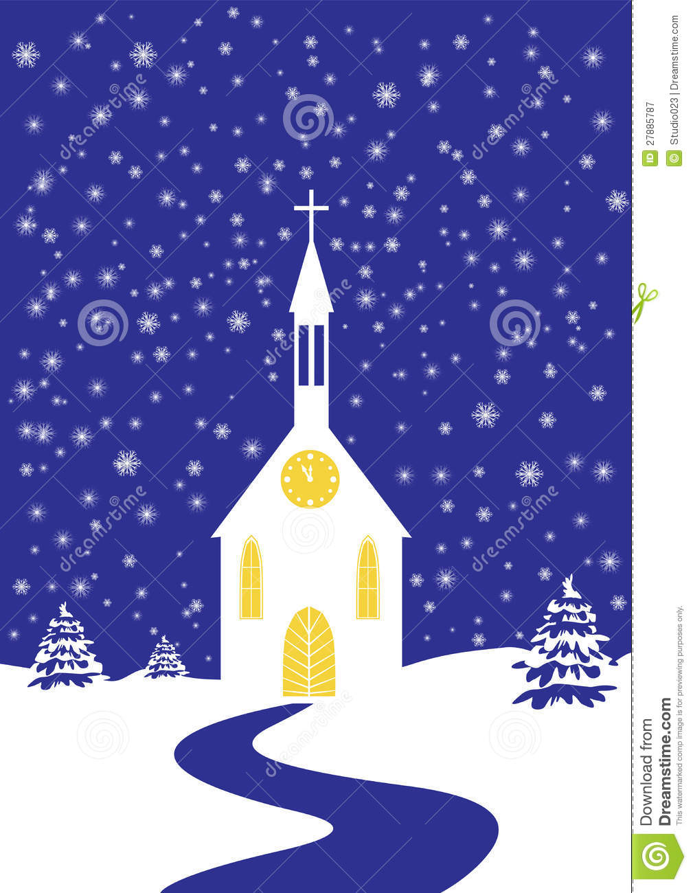 christmas scene pictures to colour
