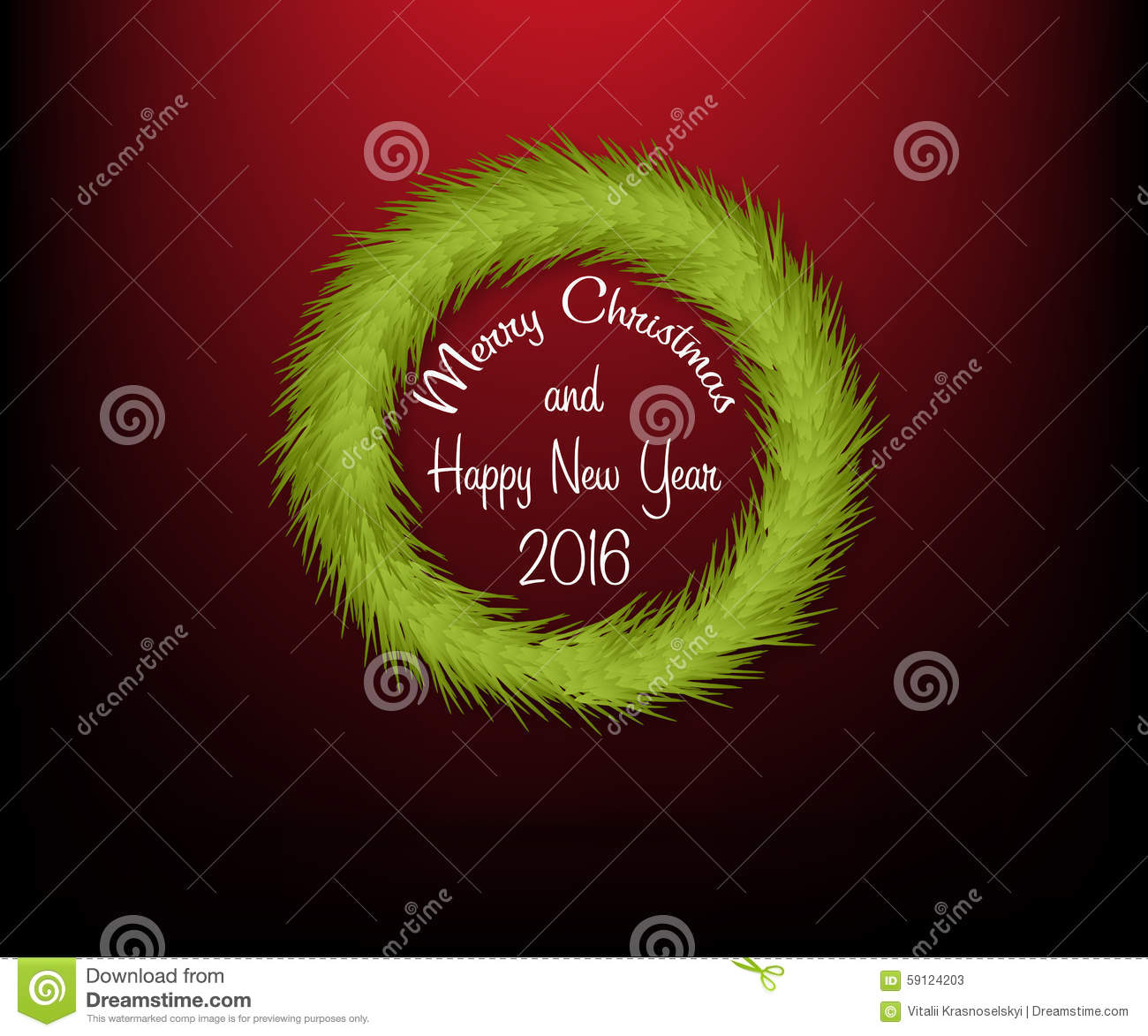 Christmas circle wreath without decoration with text stock for A text decoration