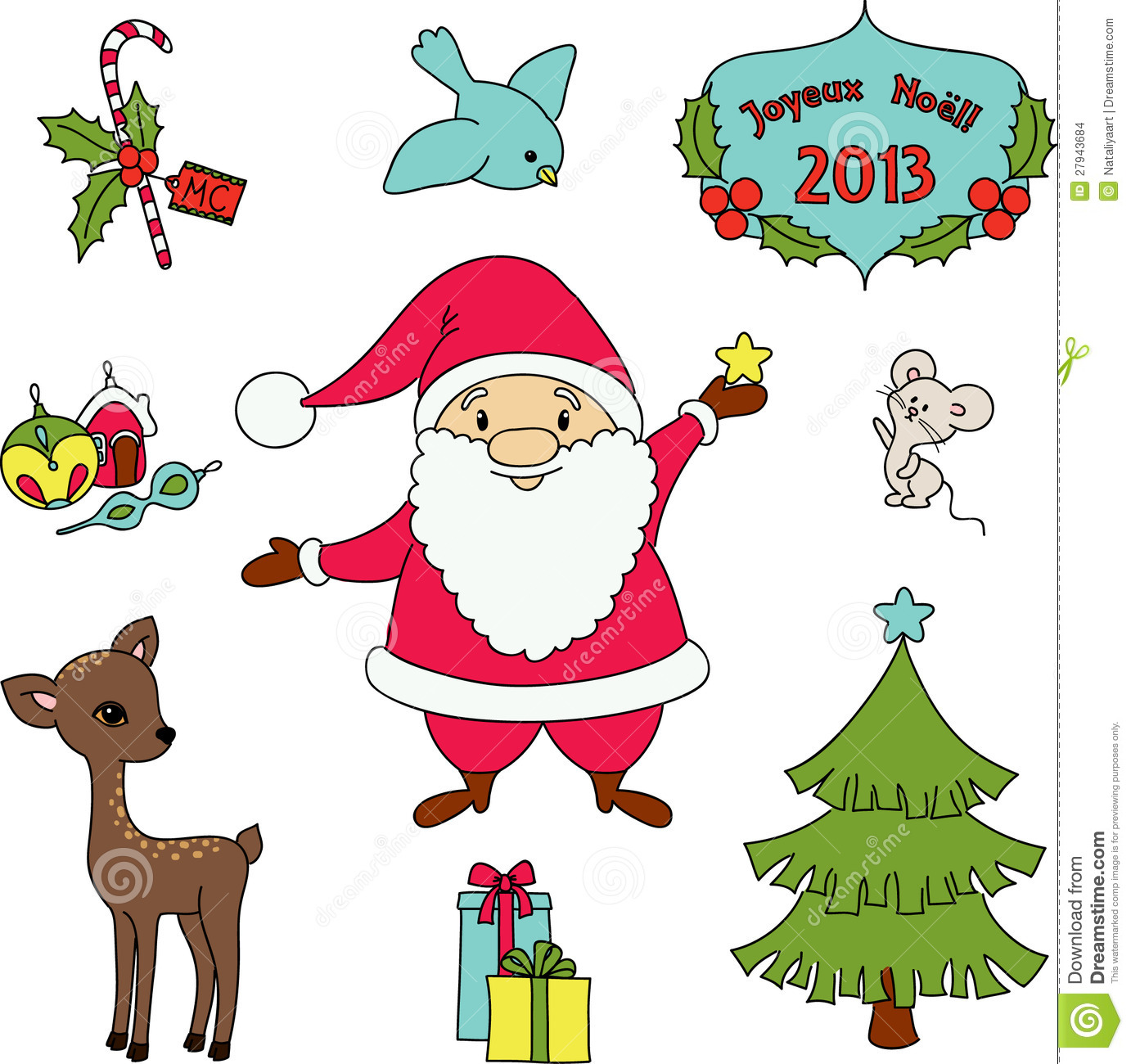 Christmas Clip-art Stock Images - Image: 27943684