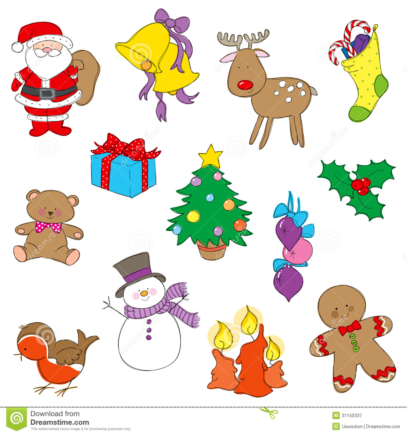 christmas numbers clipart free - photo #38