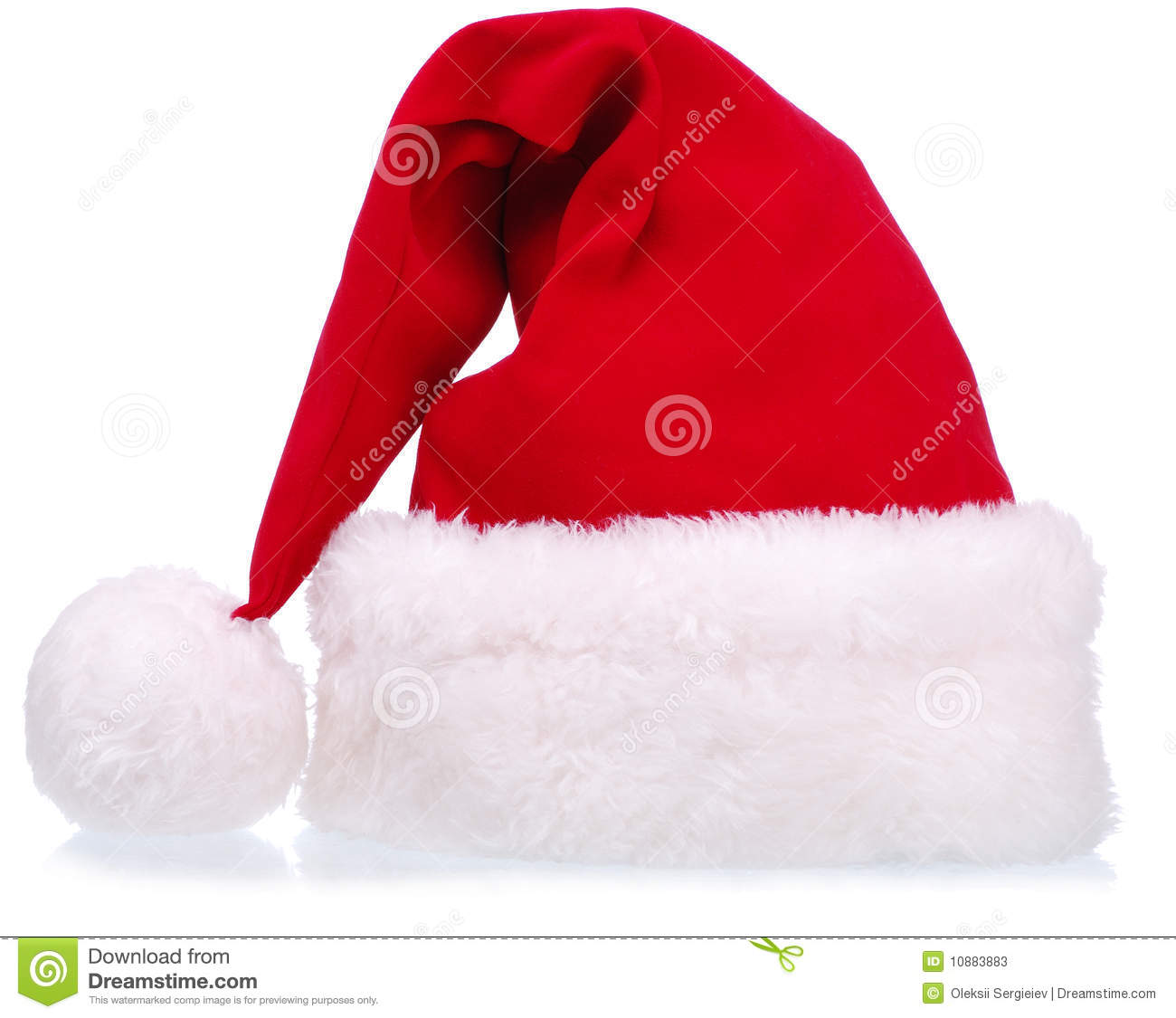 13e0fac77e059 Christmas Clothes - Santa Hat Stock Image - Image of front