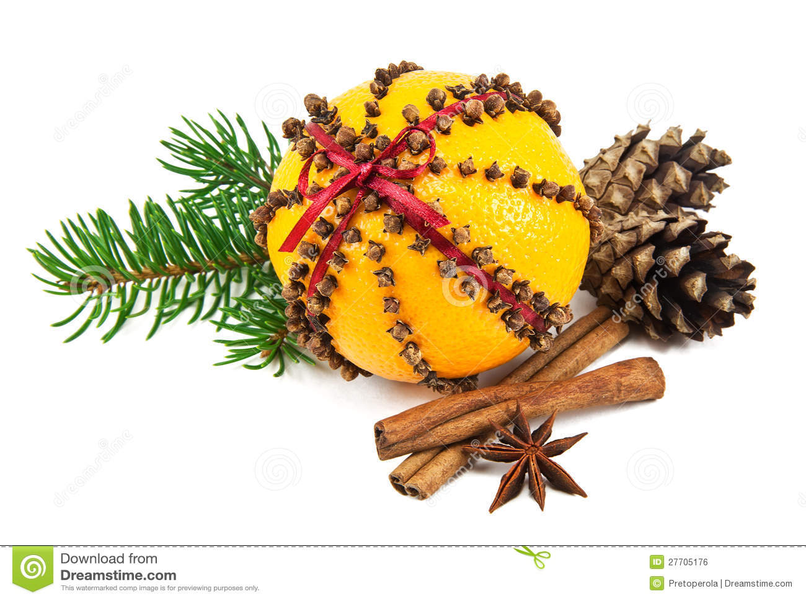 Christmas Clove And Orange Pomander Stock Photo Image