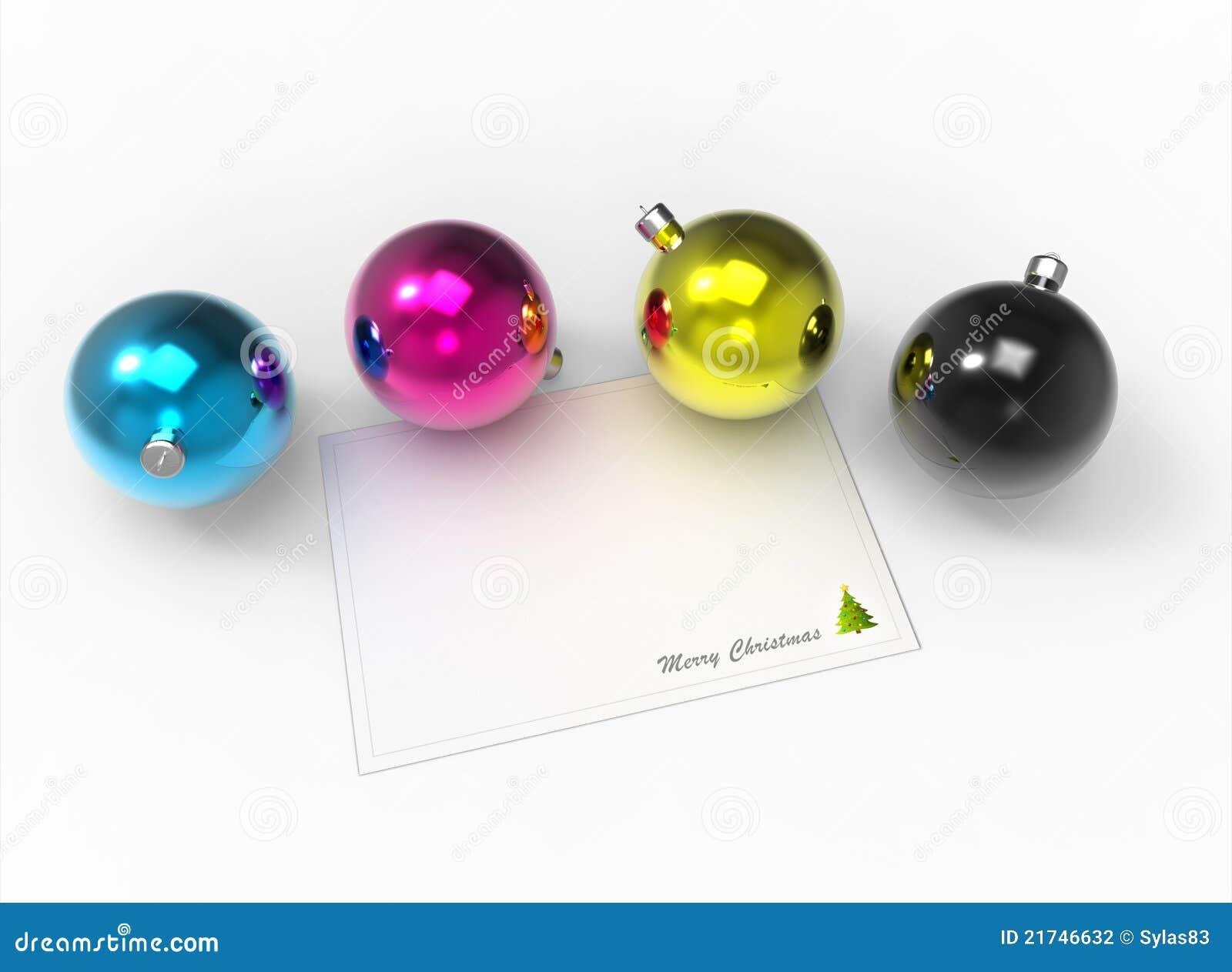 Christmas Cmyk Color Baubles Pack Stock Illustration Illustration Of Design Holiday 21746632