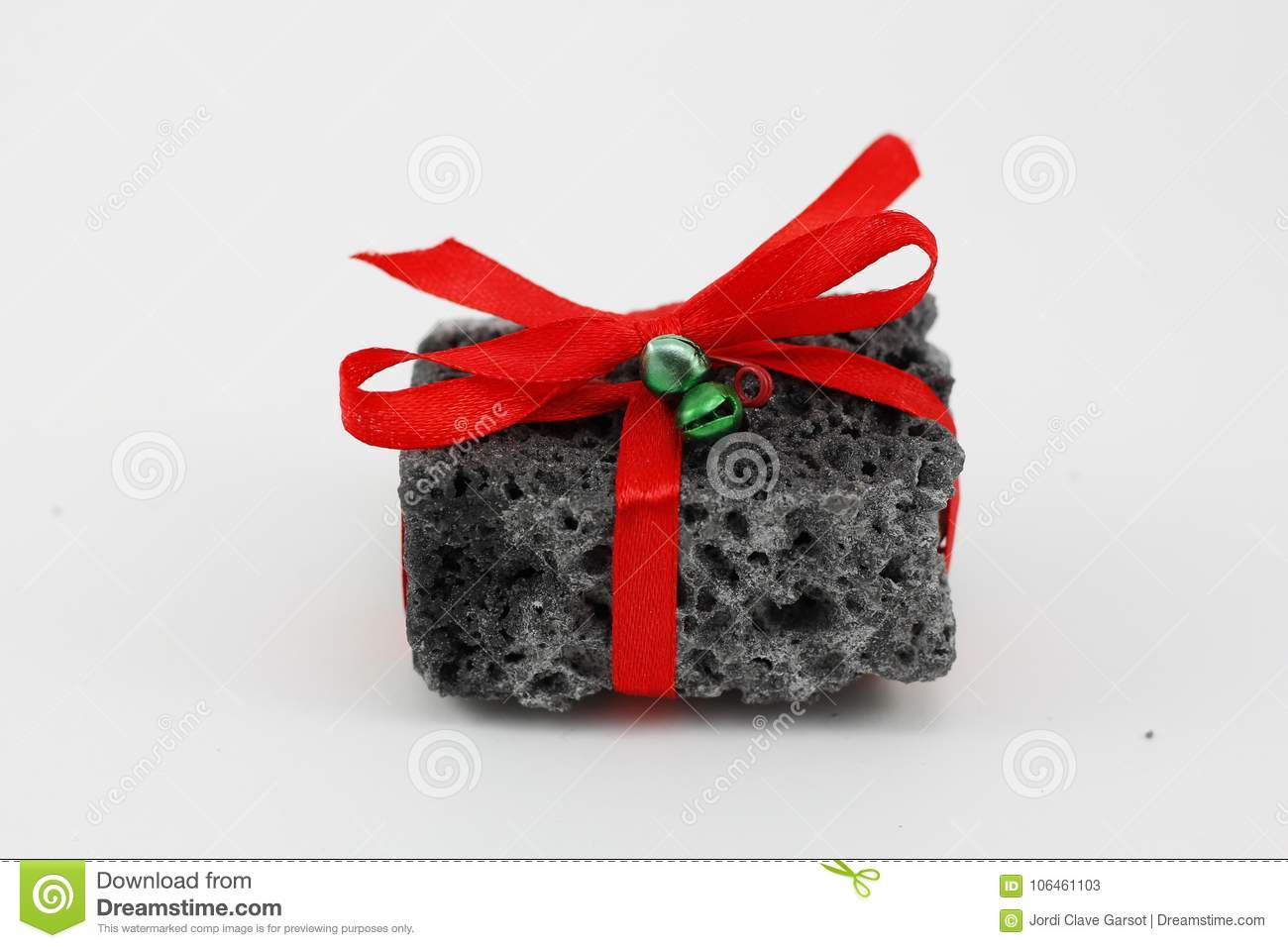 Christmas Coal In A White Background Stock Image - Image of sugar ...