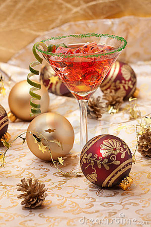 Christmas cocktail stock photography image 11996362 for Christmas in a glass cocktail