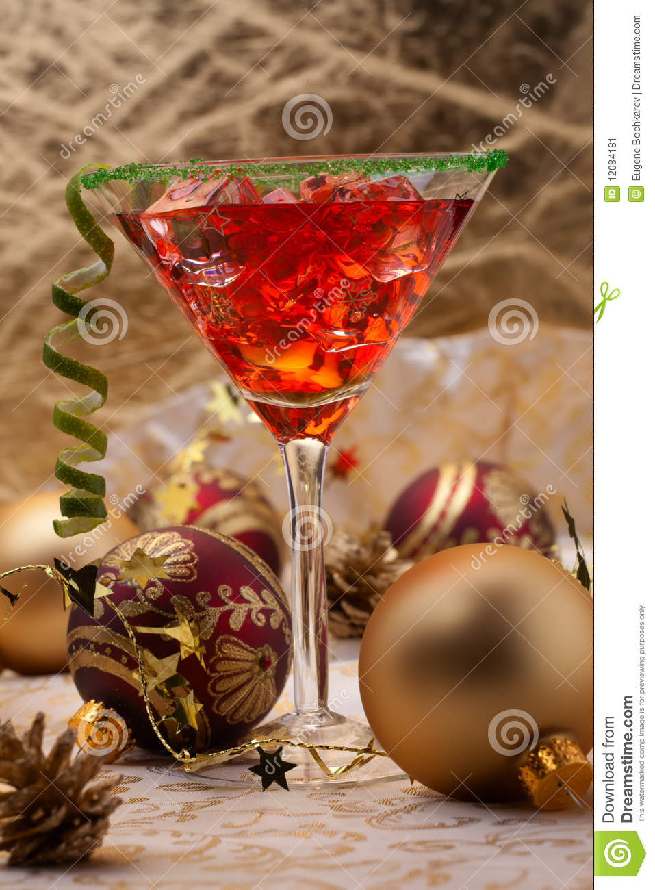 Christmas cocktail stock image image 12084181 for Christmas in a glass cocktail