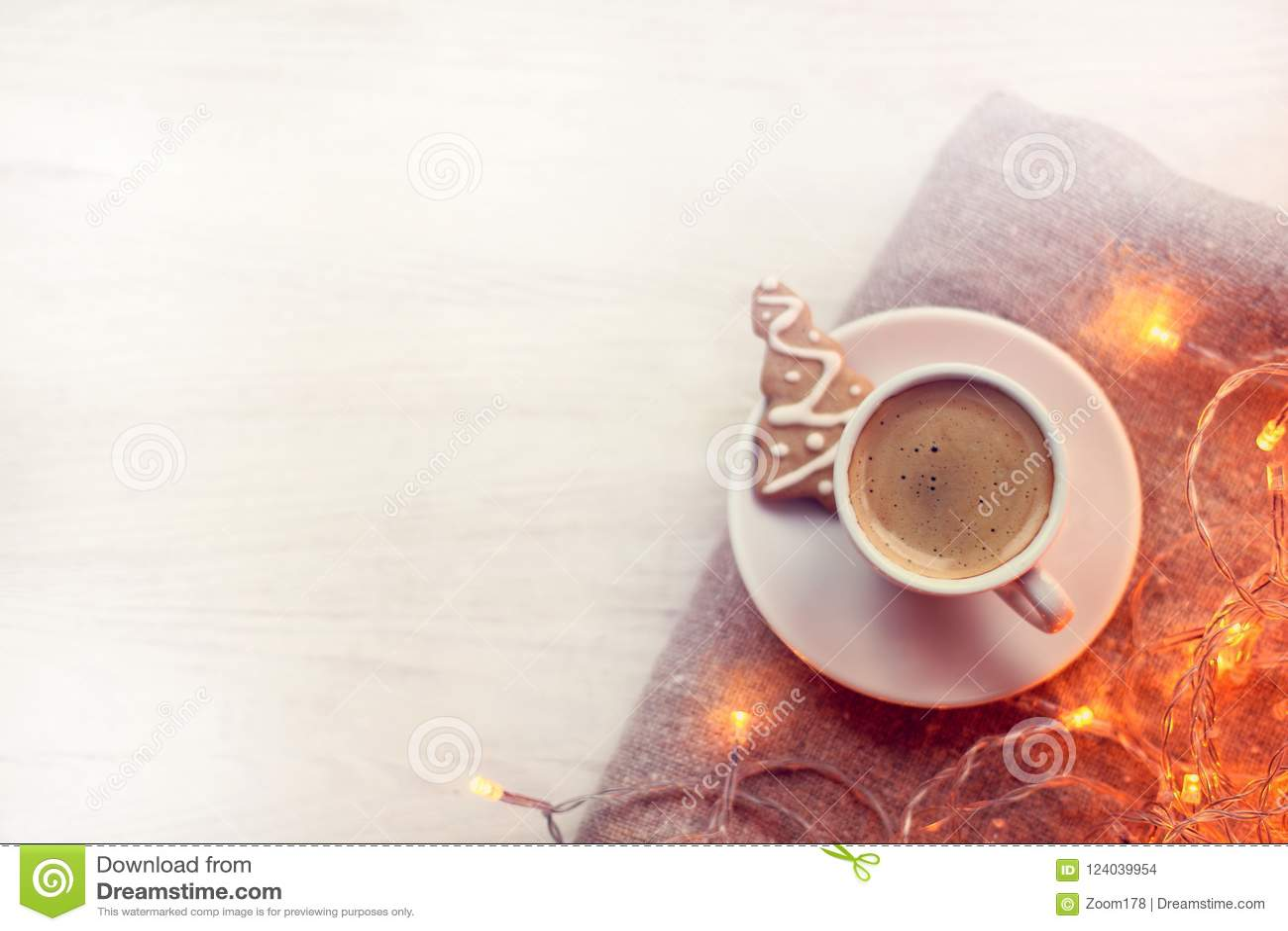 Christmas Coffee Break Stock Photo Image Of Background