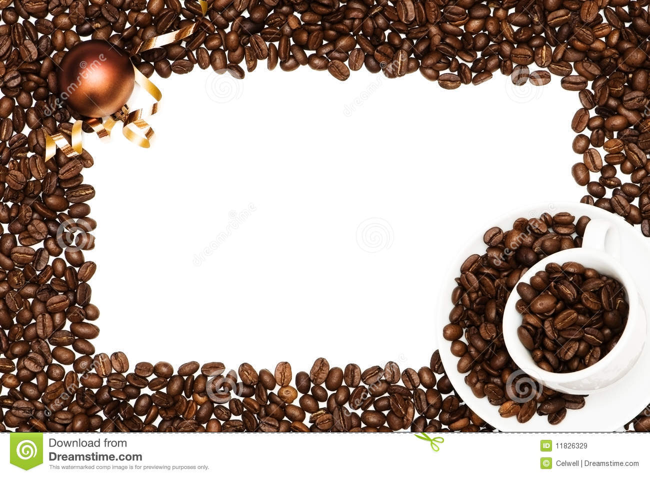 Christmas Coffee Frame Royalty Free Stock Images - Image: 11826329