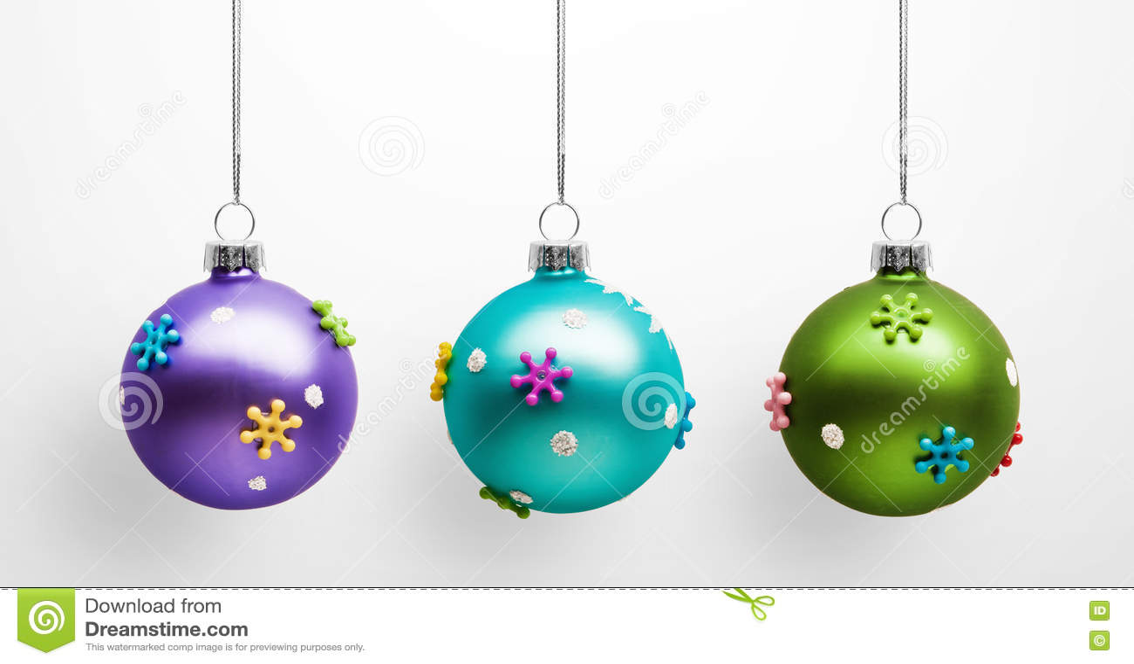 Christmas colored balls stock photo image