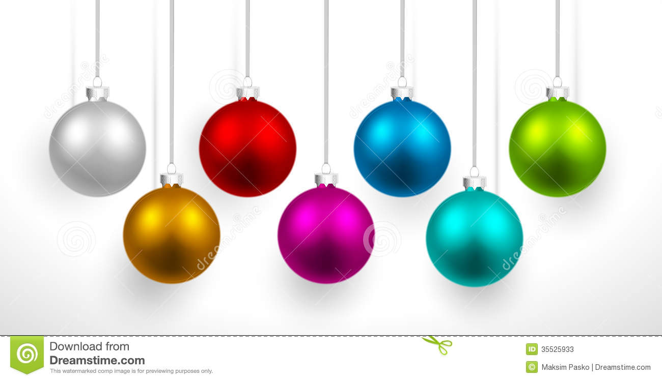 christmas colored balls stock image image of colored 35525933. Black Bedroom Furniture Sets. Home Design Ideas
