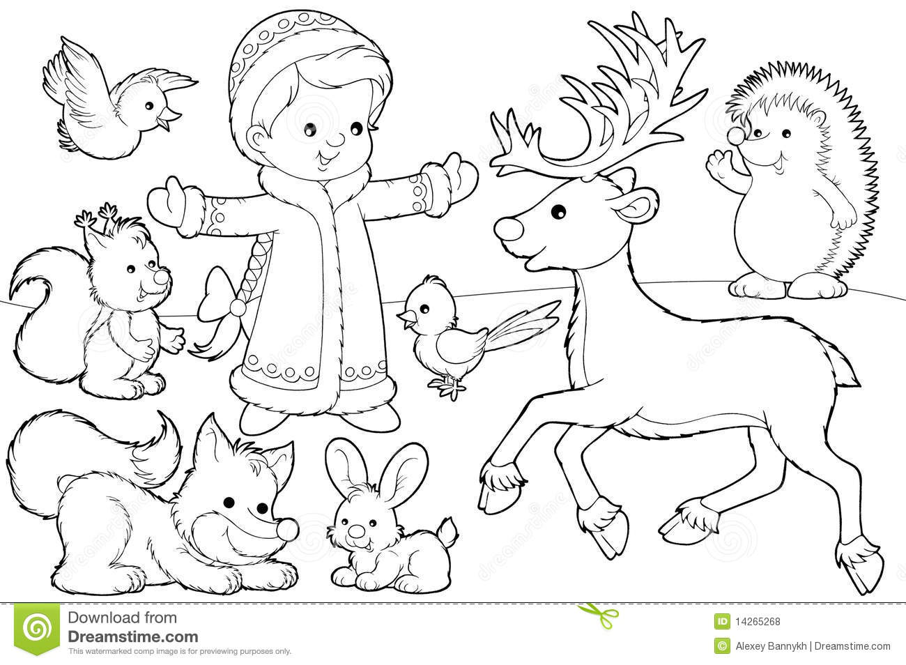 Christmas Coloring Page Royalty Free Stock Photos Image