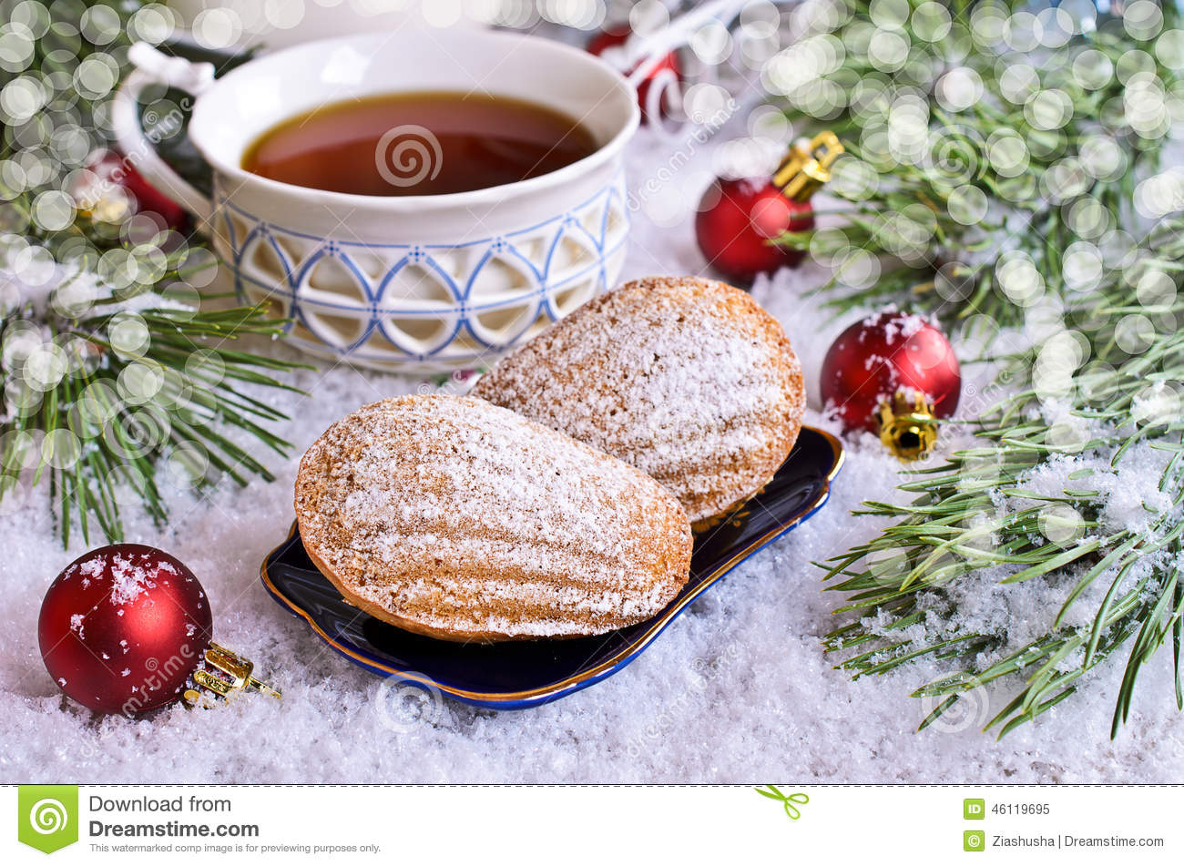 Christmas composition stock photo image 46119695 for Madeleine decoration