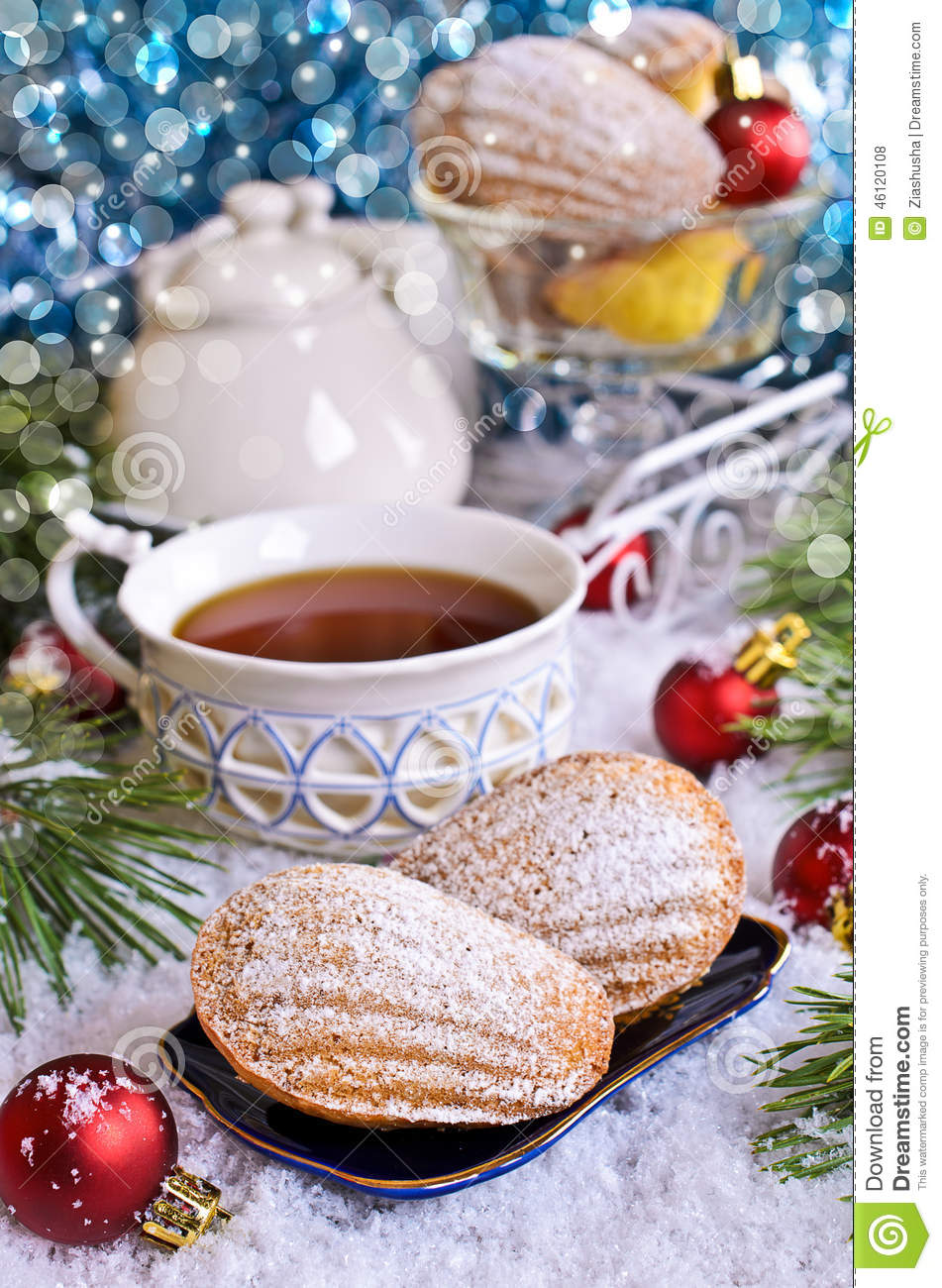 Christmas composition stock photo image 46120108 for Madeleine decoration