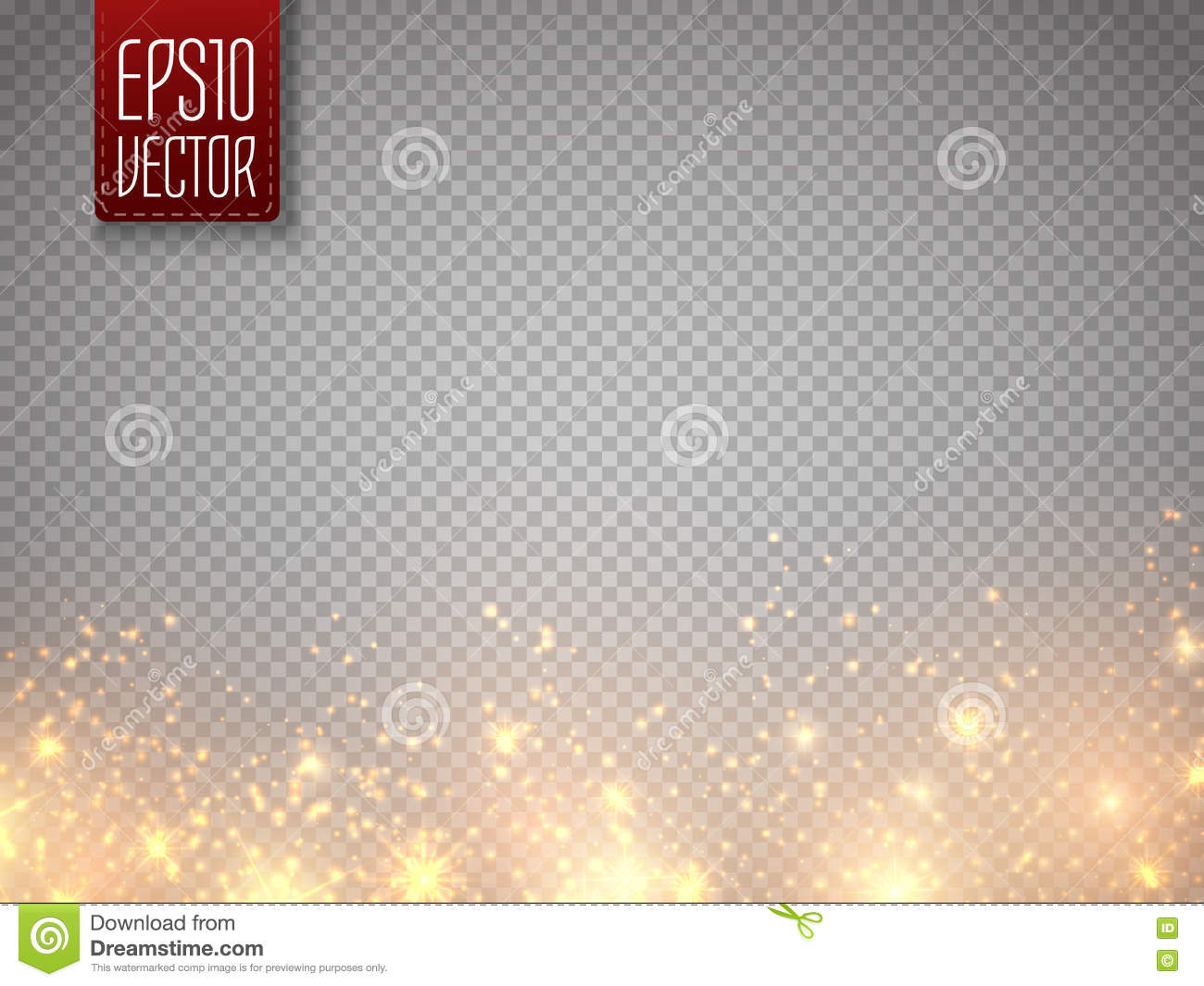 Christmas Concept  Vector Gold Glitter Particles Background Effect