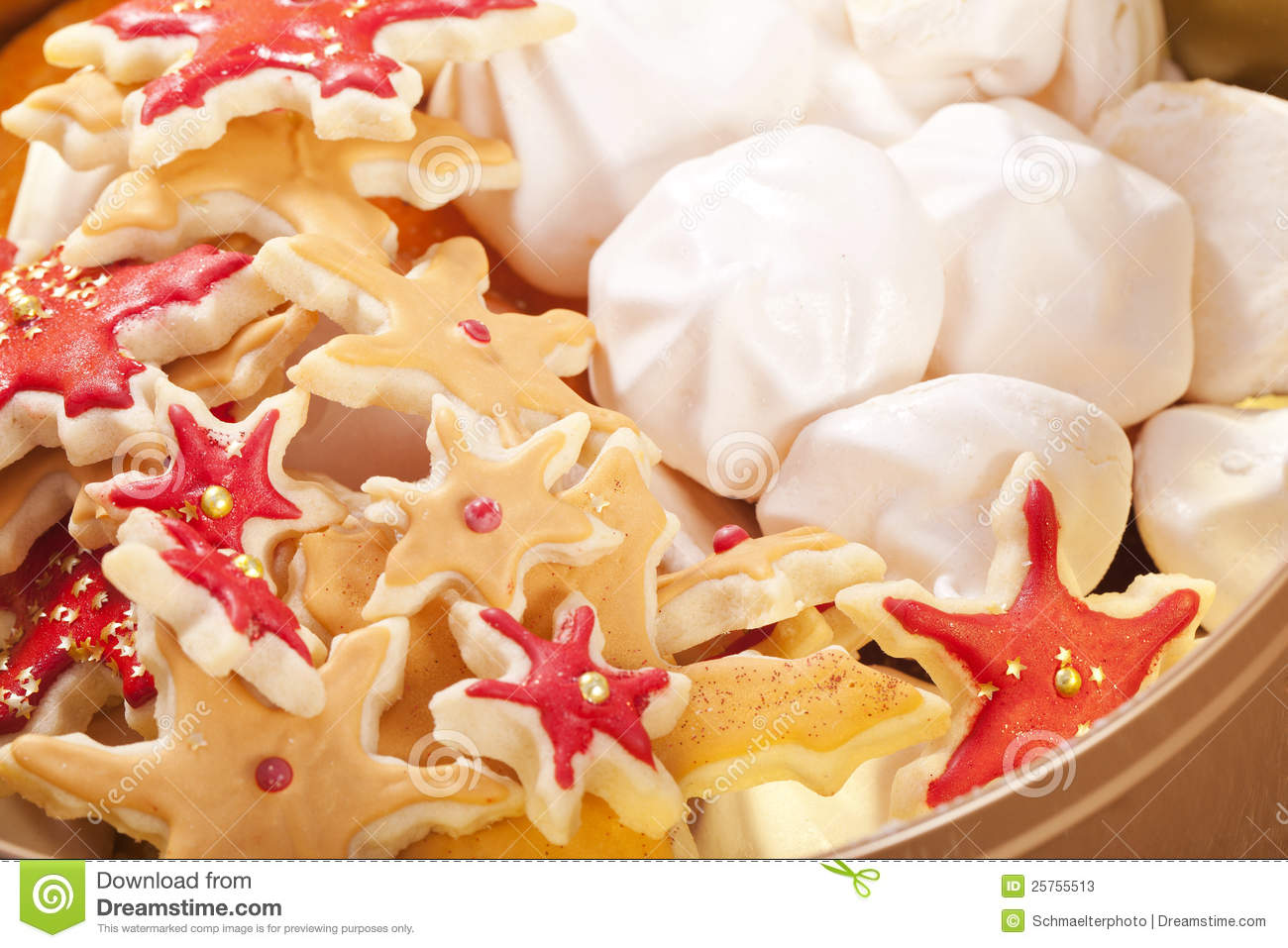 Christmas Cookie Crumbs And Empty Milk Glass Royalty-Free ...