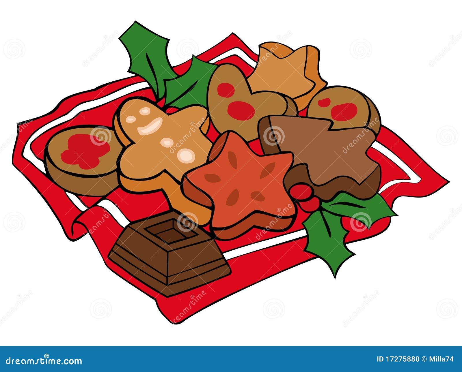 christmas cookies stock vector illustration of biscuit. Black Bedroom Furniture Sets. Home Design Ideas