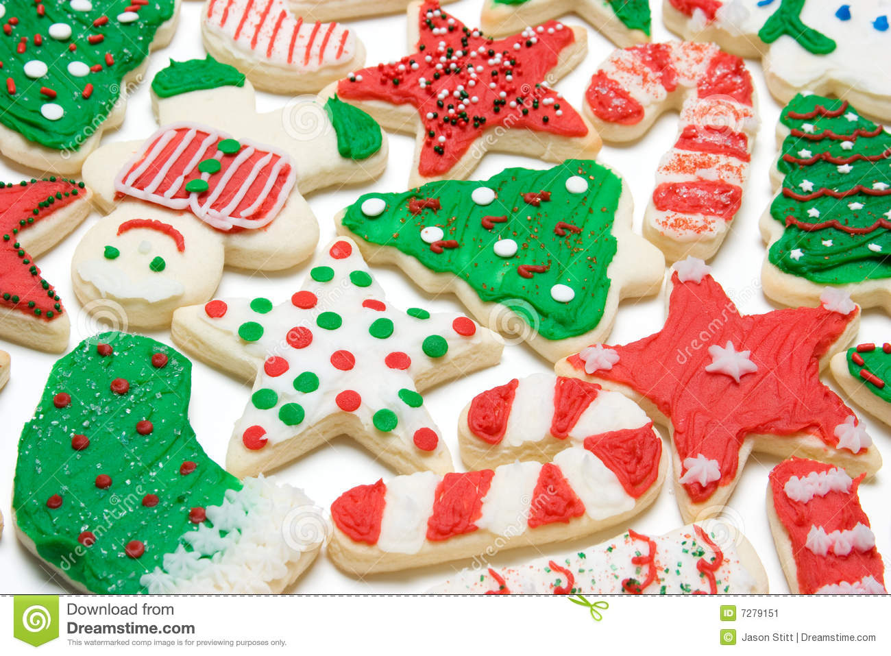 Christmas Cookies stock image. Image of snowman, candy - 7279151