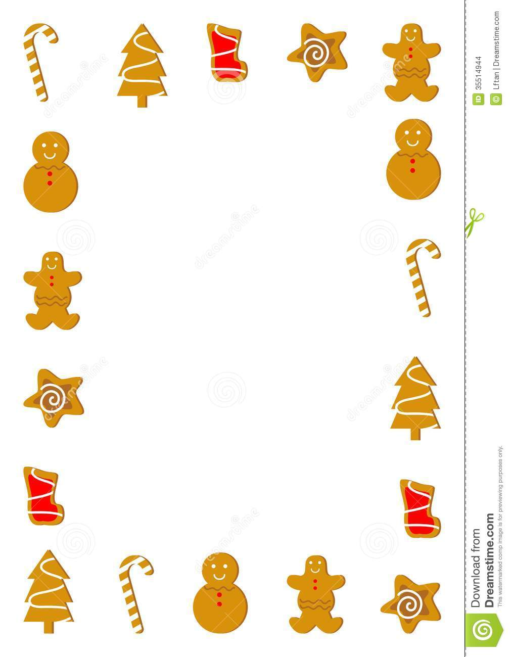 Christmas Cookie Borders Clip Art Stock images: christmas cookies ...