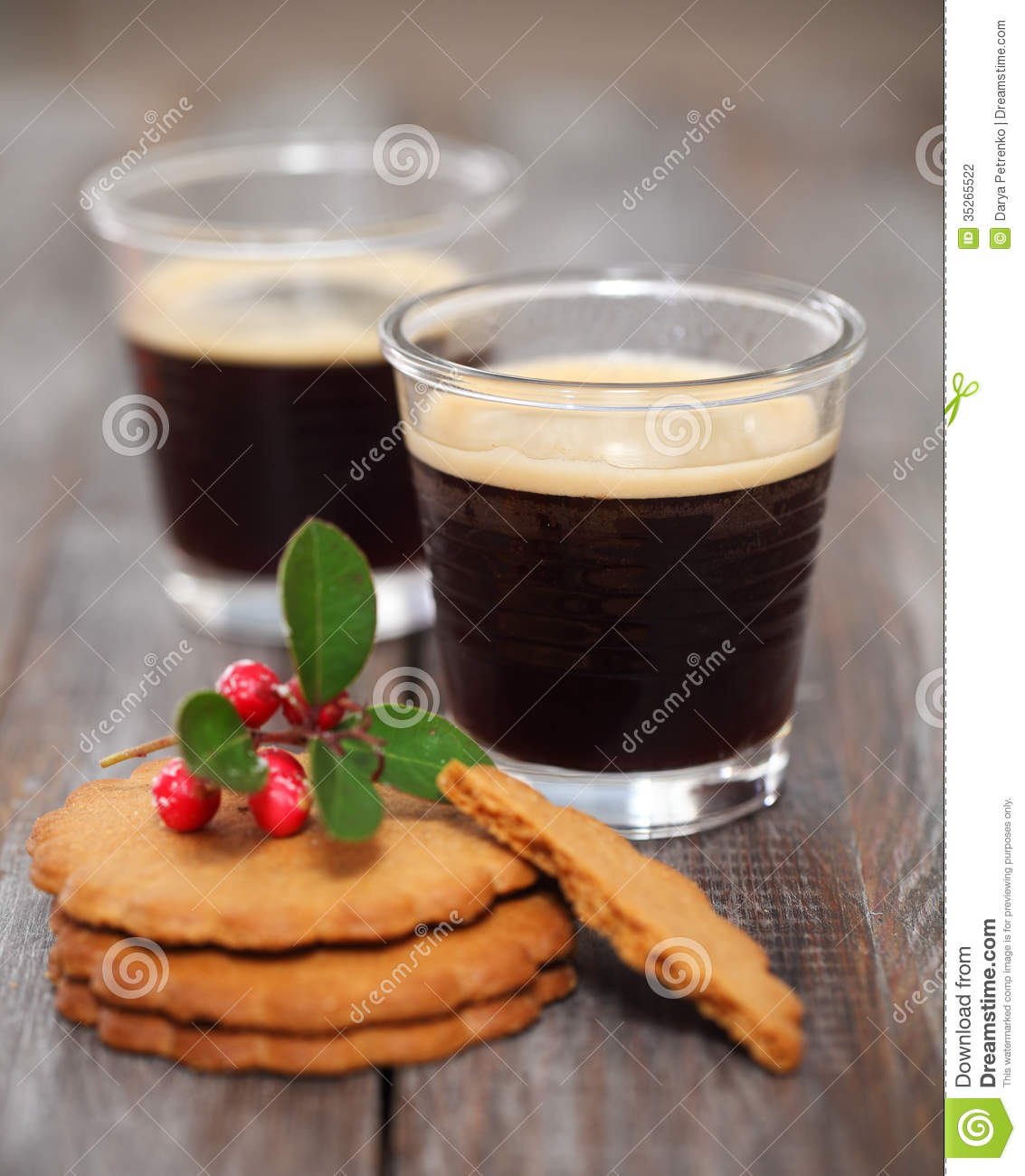 Christmas Cookies With Coffee Stock Photography Image