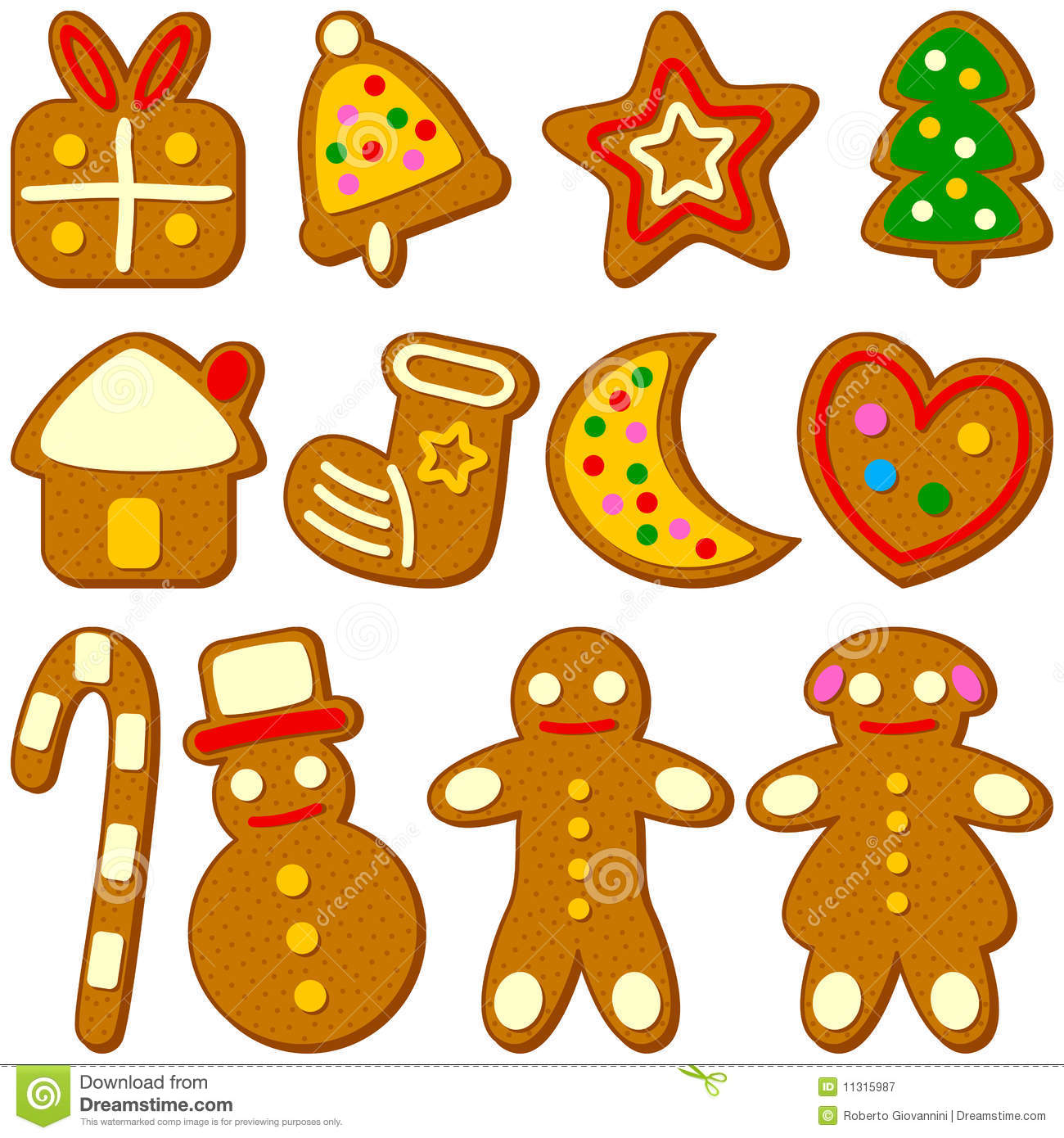 christmas cookies collection stock vector image 11315987. Black Bedroom Furniture Sets. Home Design Ideas