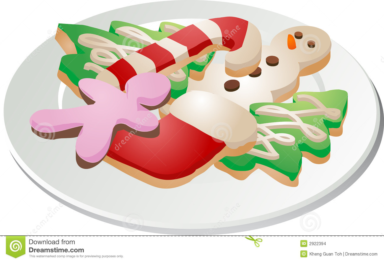 Christmas Cookies Ona Plate Stock Images - Image: 2922394