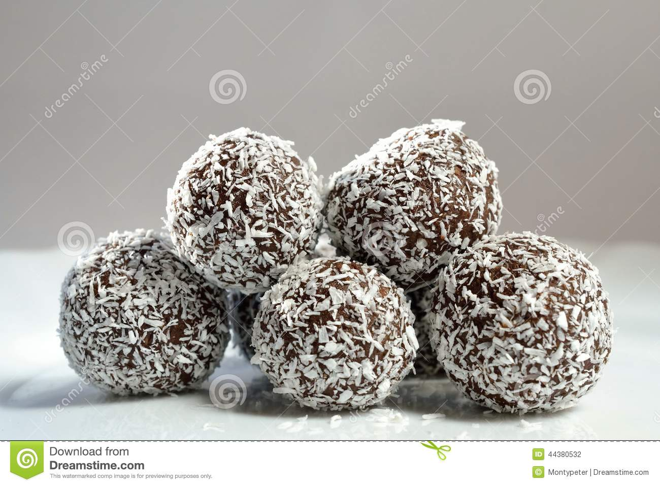 Christmas Cookies - Rum Balls In Coconut Stock Photo - Image: 44380532