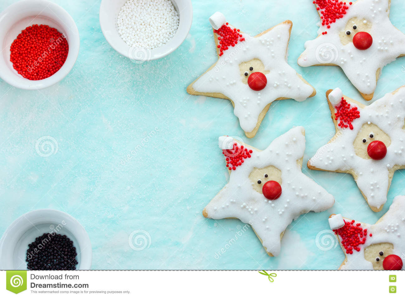 Christmas Cookies Santa Claus Creative Idea For Treats Kids Ho