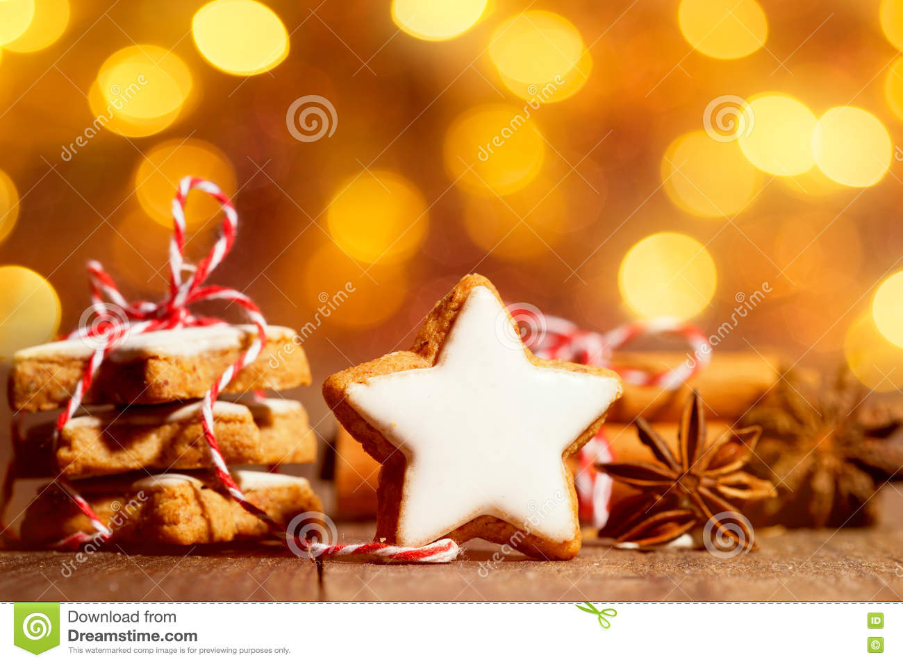 Christmas Cookies With Star Anise And Cinnamon Stock Image Image