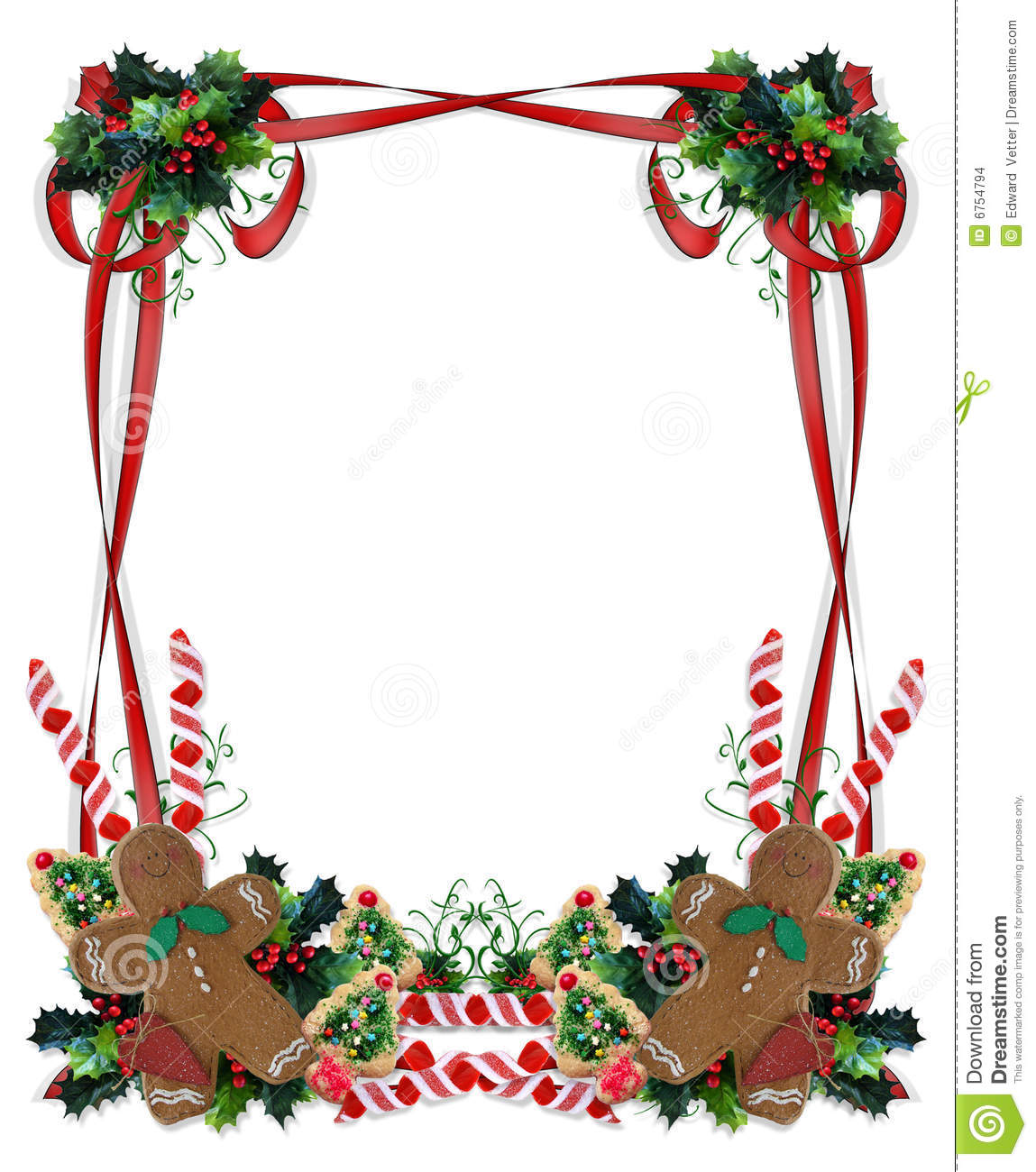 Christmas Borders Clipart.Christmas Cookies And Treats Border Stock Illustration