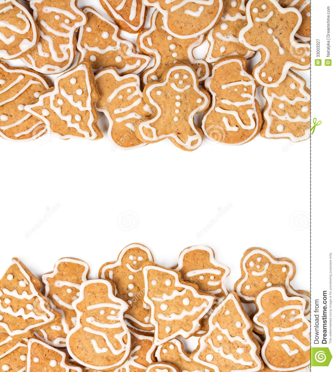 Christmas Cookies On A White Background Stock Image - Image of sweet ...