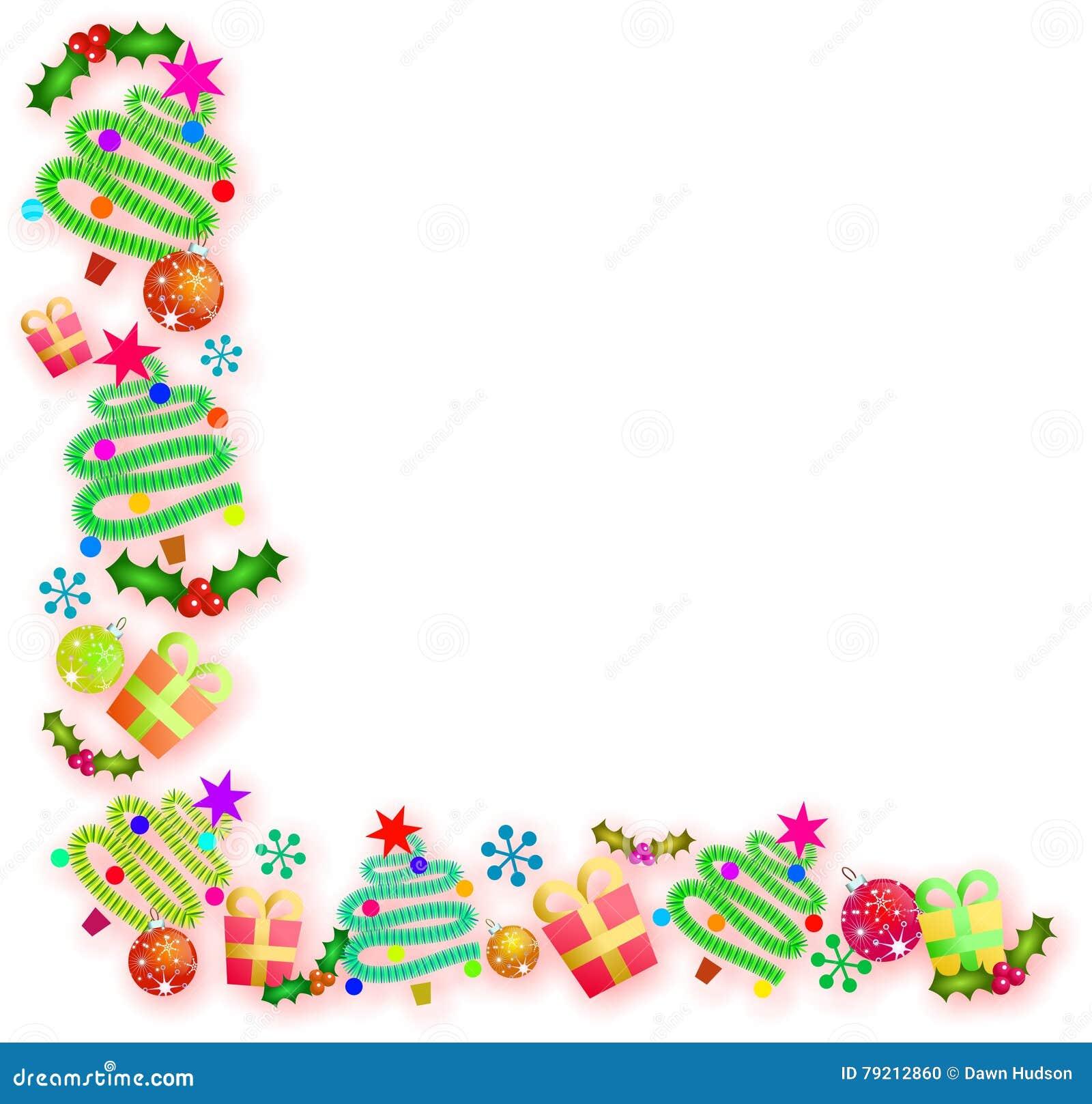 Christmas Corner Border Stock Illustration - Image: 79212860