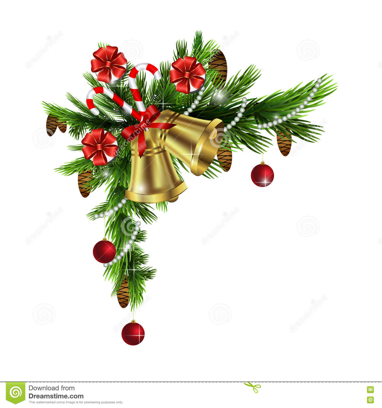 Christmas Corner Decorations Stock Vector
