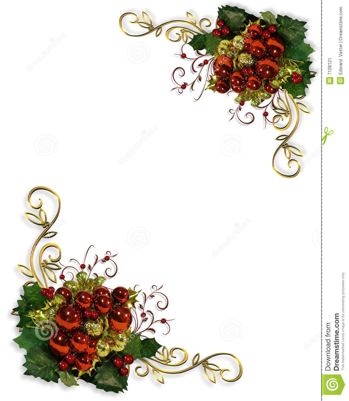 christmas corner design elements stock illustration illustration