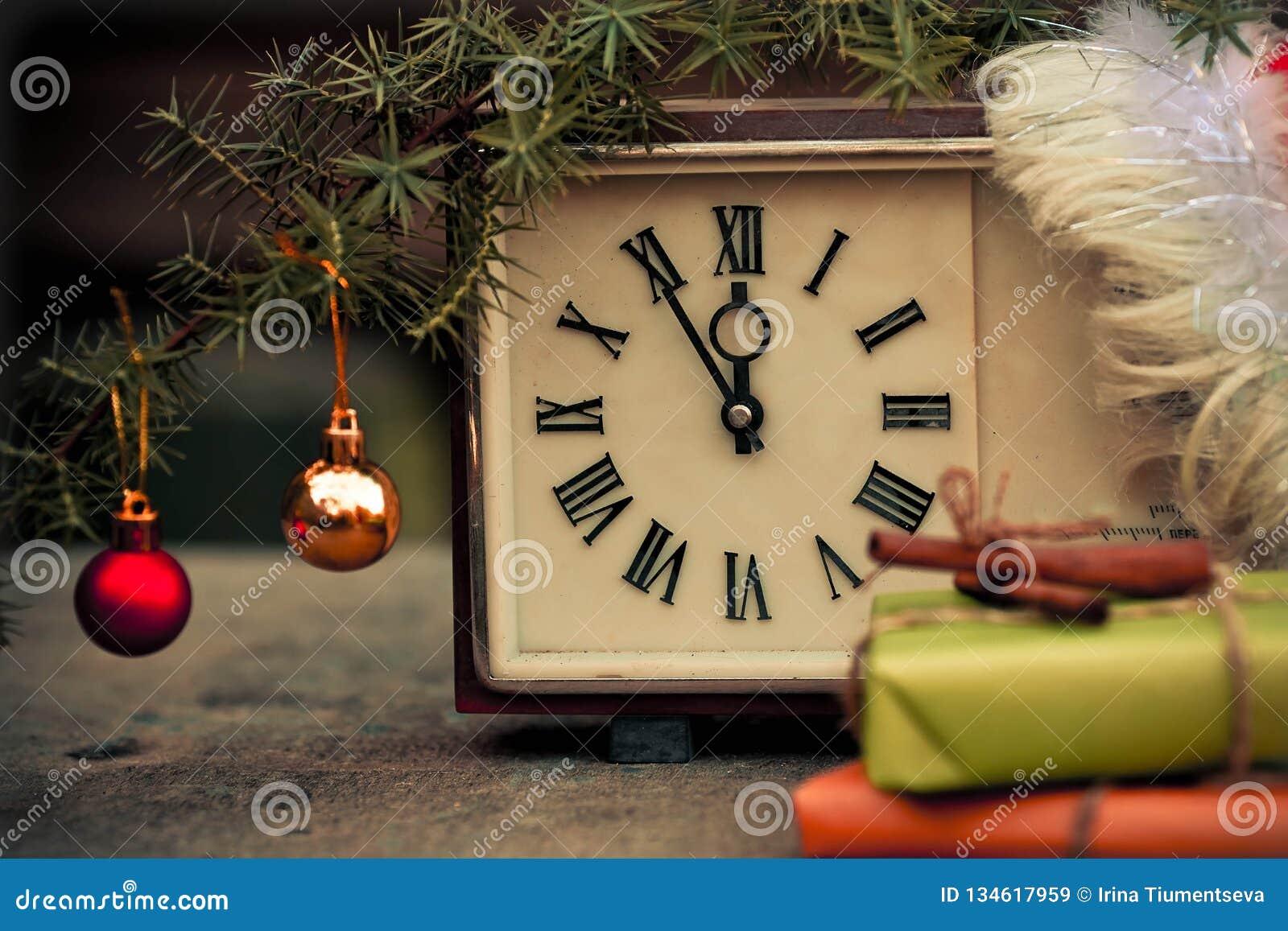 Christmas Countdown New Year Clock Stock Image - Image of ...