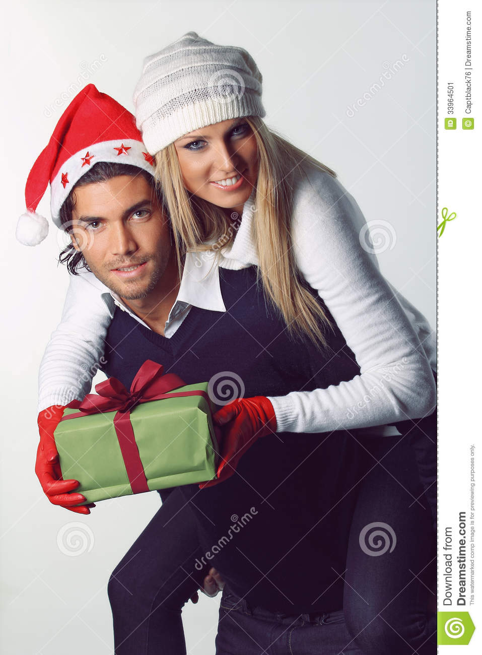 Christmas Couple Happy And Funny